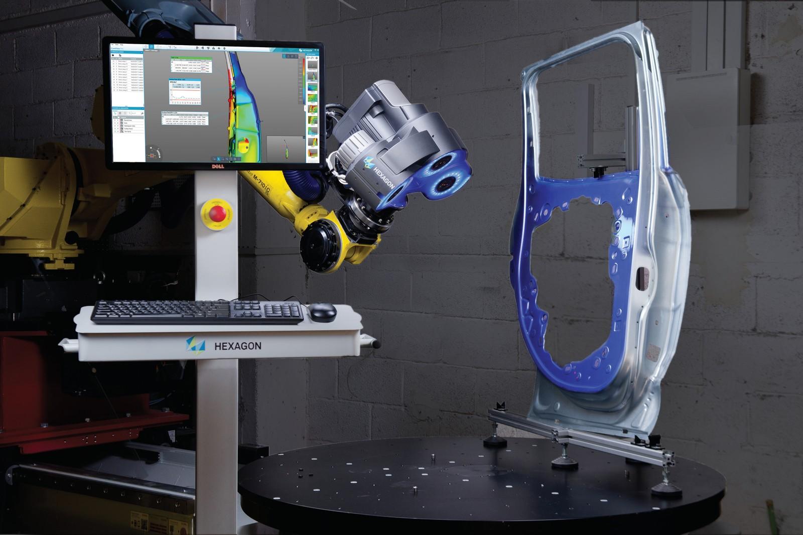 Das 3D-Messgerät Blaze 600A 3D Optical Solution von Hexagon Manufacturing Intelligence steigert die Produktivität in der Fertigung durch schnelle Datenerfassung