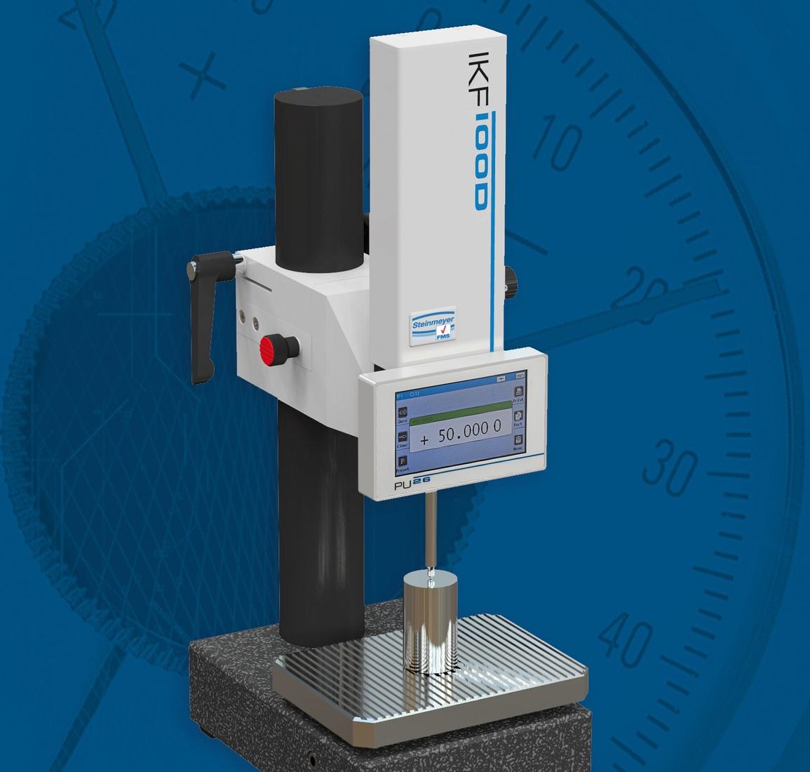 Der manuell verstellbare inkrementale Feintaster IKF100D mit integrierter Anzeigeeinheit eignet sich bestens für den Einsatz in Laboren.