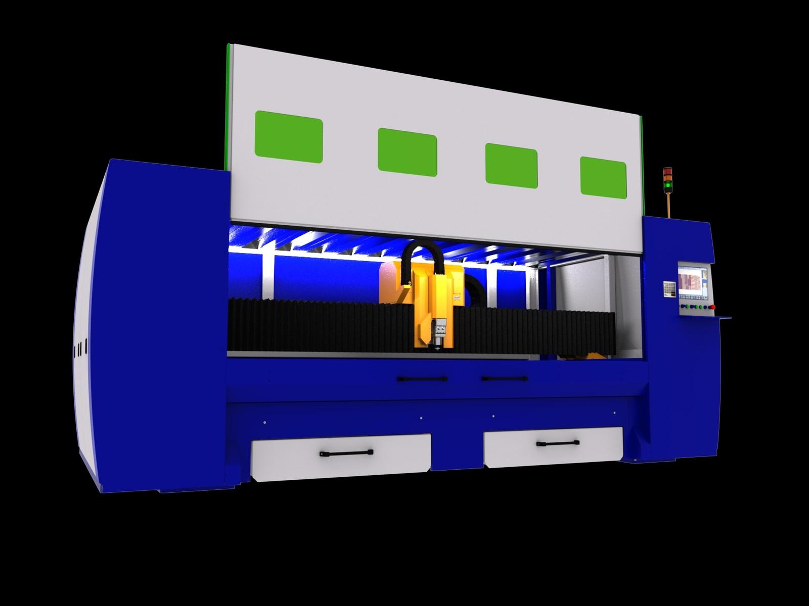 Die als Insellösung konzipierte CNC-Laserschneidanlage MSF Compact ist schnell startklar und spart Platz. Der Faserlaser steht mit verschiedenen Tischgrößen und Laserquellen zur Auswahl. Er feiert Weltpremiere auf der Euroblech.