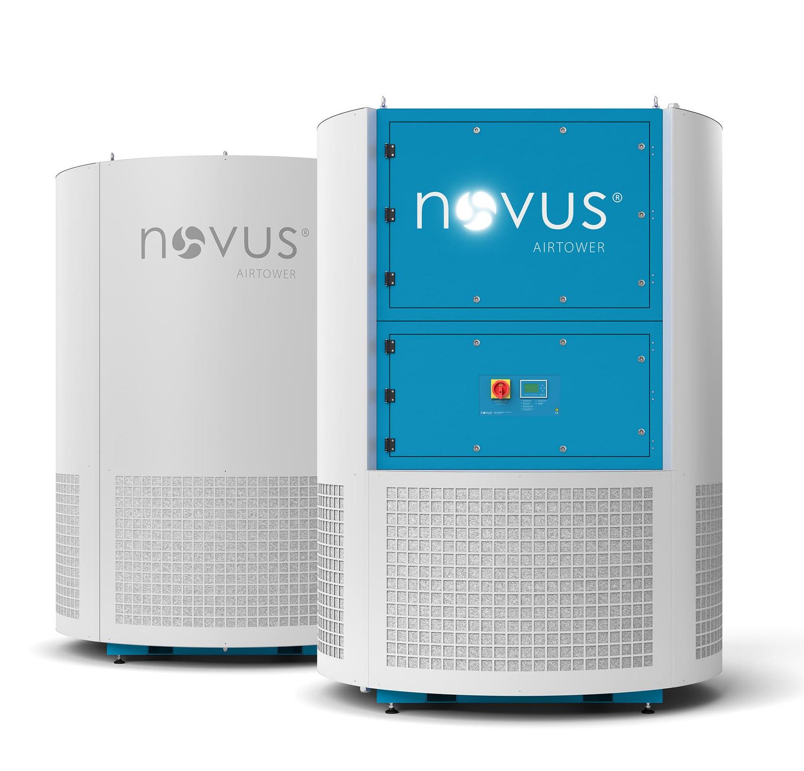 Die neue Lösung von Novus vereint die Absaugung von Kühlschmierstoff-Emissionen mit einer 360°-Luftkonditionierung.