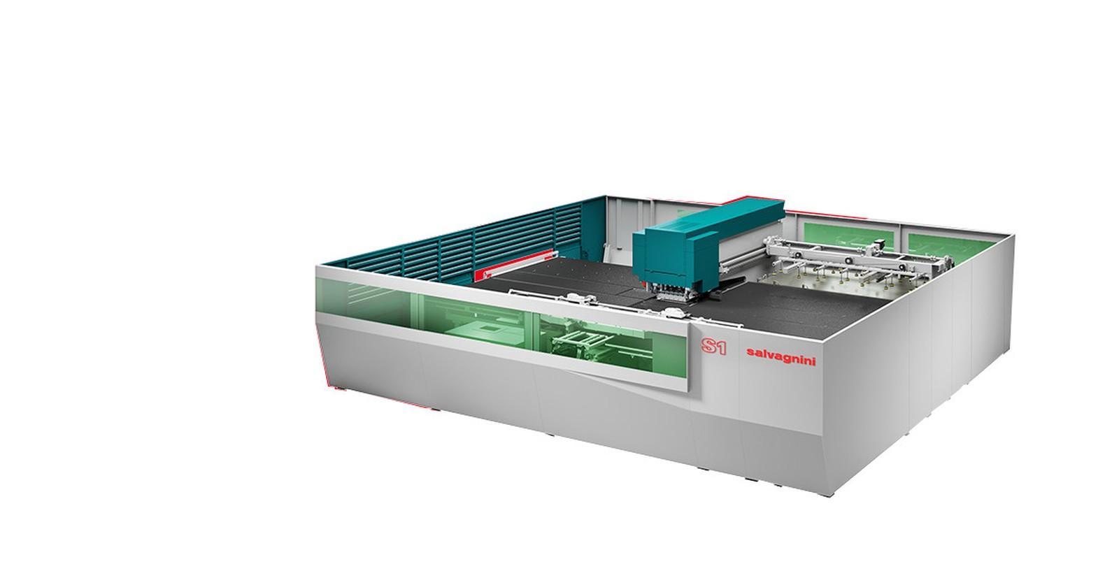 Weltpremiere auf der Euroblech 2018 hat die Stanz-Laser-Kombimaschine S1 von Salvagnini.