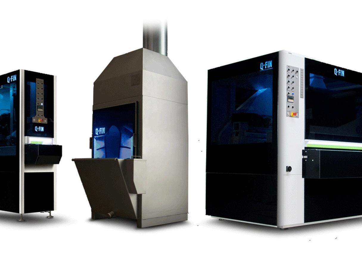 B Q-Fin entwickelt und baut Entgrat- und Verrundungsmaschinen sowie passende Absauganlagen.