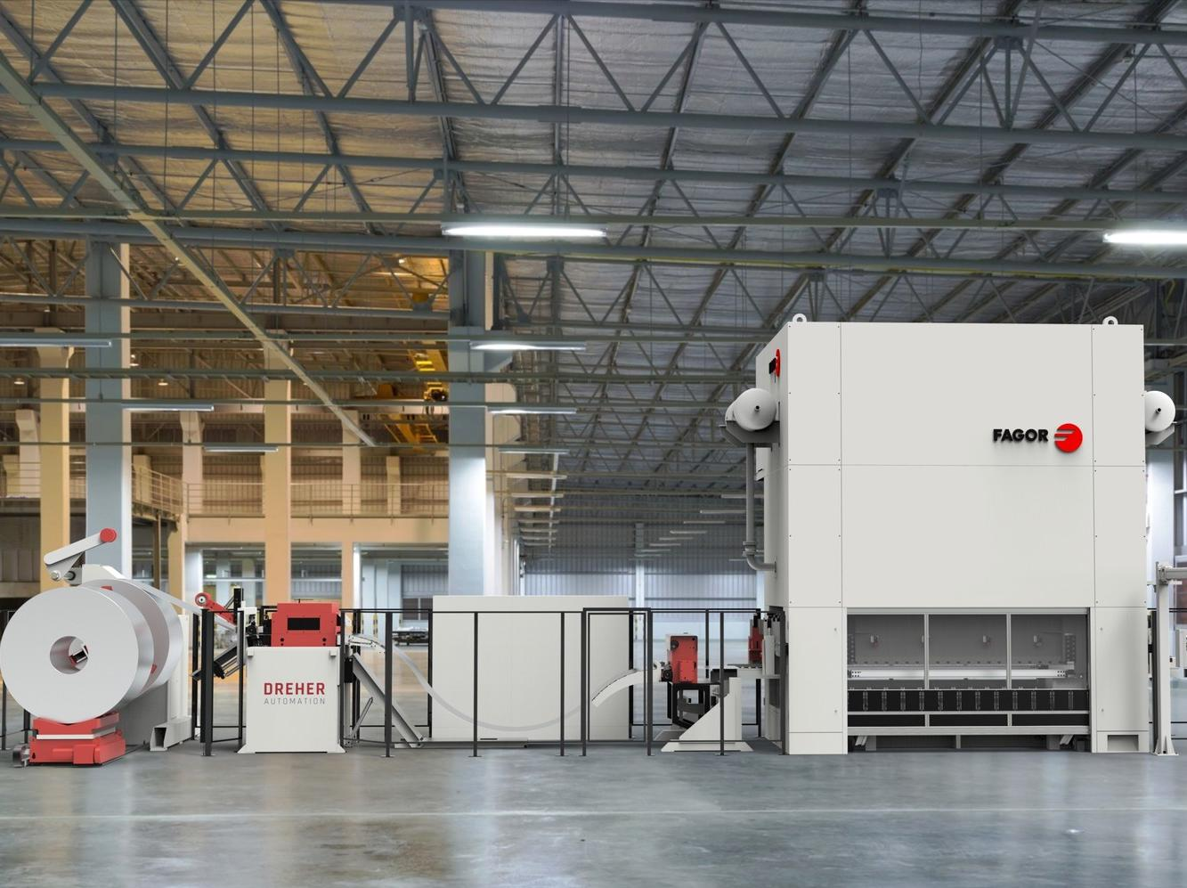 Fagor Arrasate und Dreher Automation präsentierten auf der Blechexpo ihre neue Pressenreihe mit 6.300 kN, 8.000 kN und 10.000 kN.