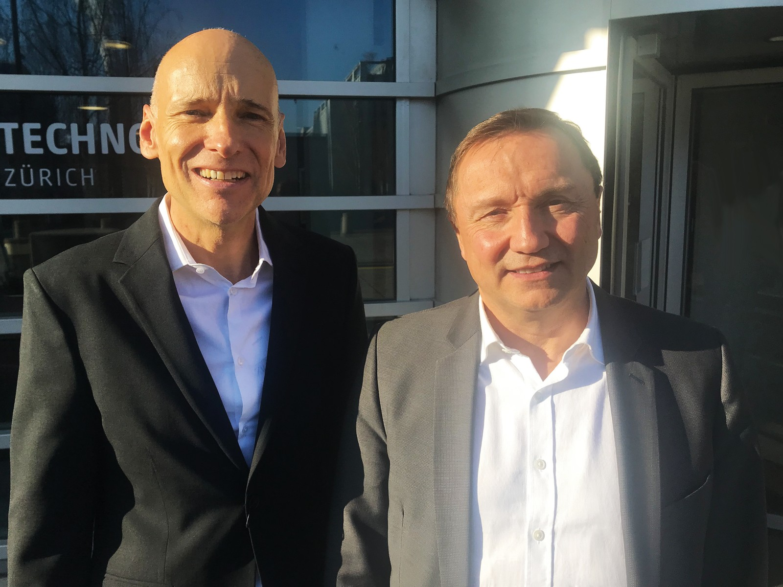 Dr. Waldemar Kubli (l.), Gründer und Chief Product Officer (CPO) der AutoForm-Gruppe und Olivier Leteurtre (r.), Chief Executive Officer (CEO) der Autoform-Gruppe.
