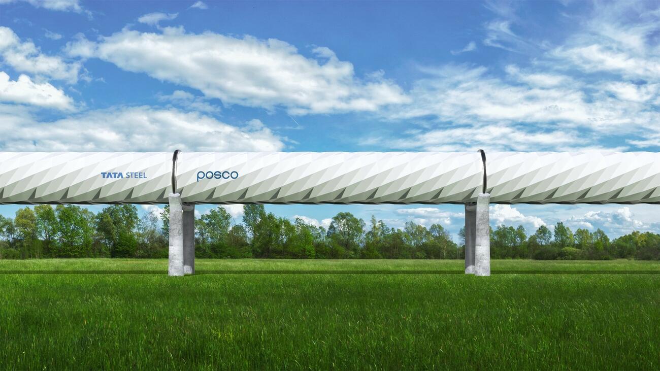 Tata Steel will die Hyperloop-Technologie voranbringen